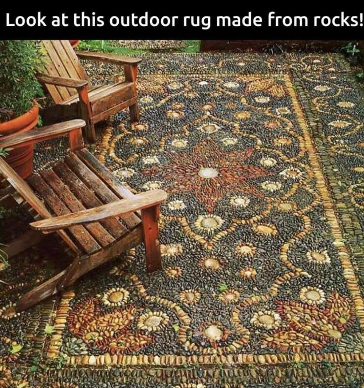 Interesting outdoor rug