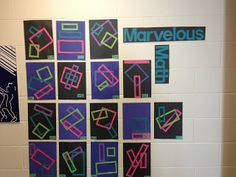 Perimeter Problems and Area Art!  Looking for a way to reinforce perimeter, area, AND problem solving?  This post gives step by step directions on how to make some real math connections for students--and check out the awesome display it makes!