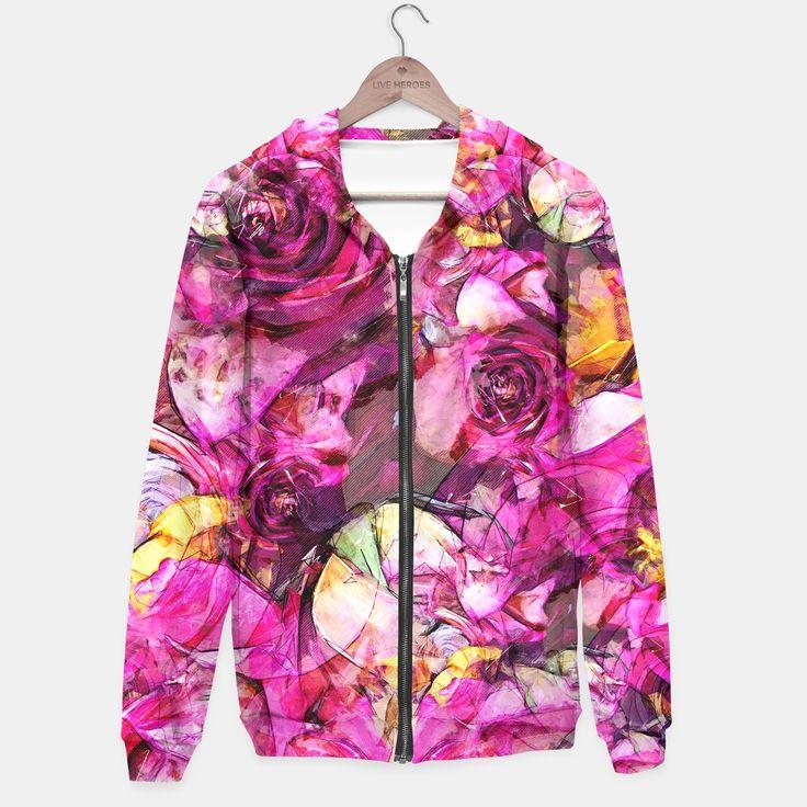 Purple roses hoodie, Live Heroes