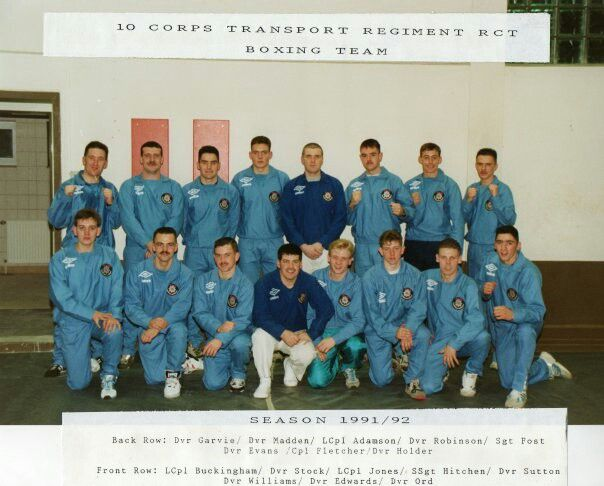 Regimental boxing team 90/91