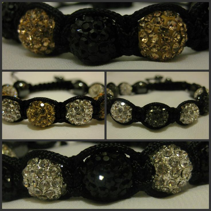 TWO-TONE RANGE Black, Grey, Silver and Gold Crystal