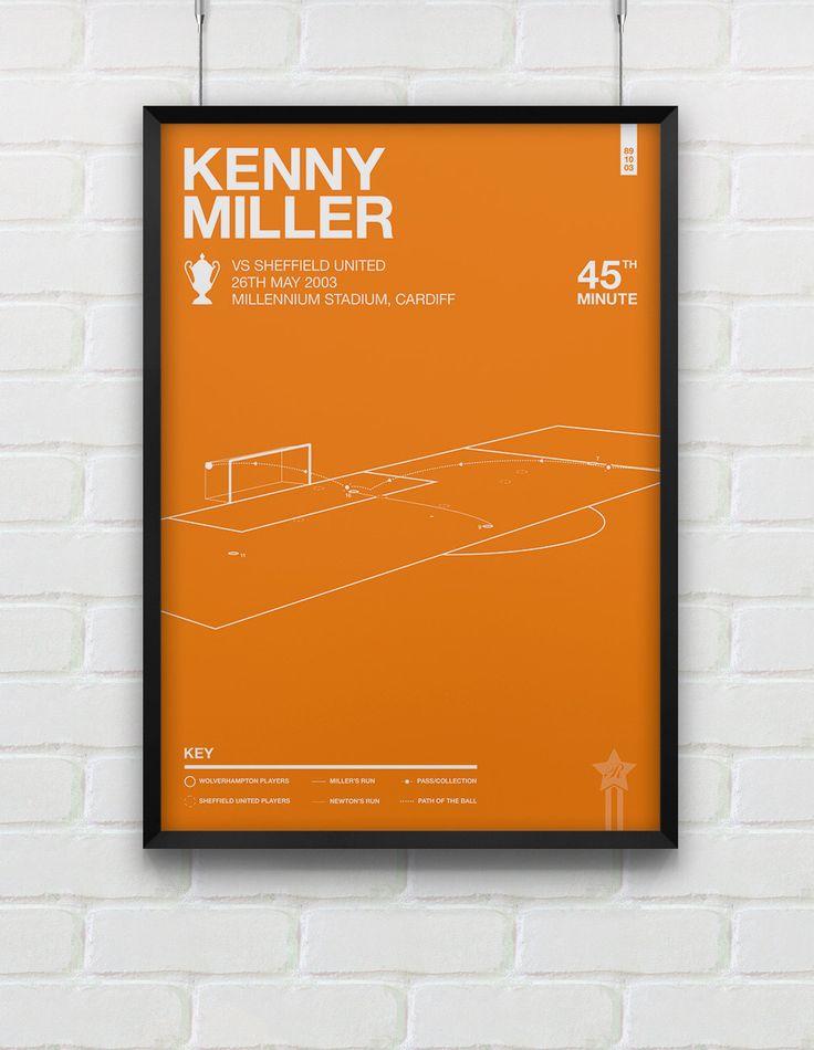 Wolverhampton - Kenny Miller vs Sheffield United Giclee Print by Rincks on Etsy