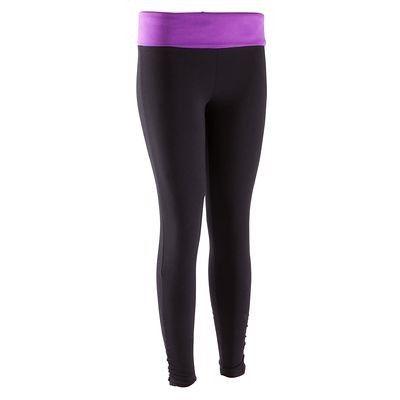 Fitness_Fitnesskleding Kleding - Yoga legging biokatoen DOMYOS - Beneden