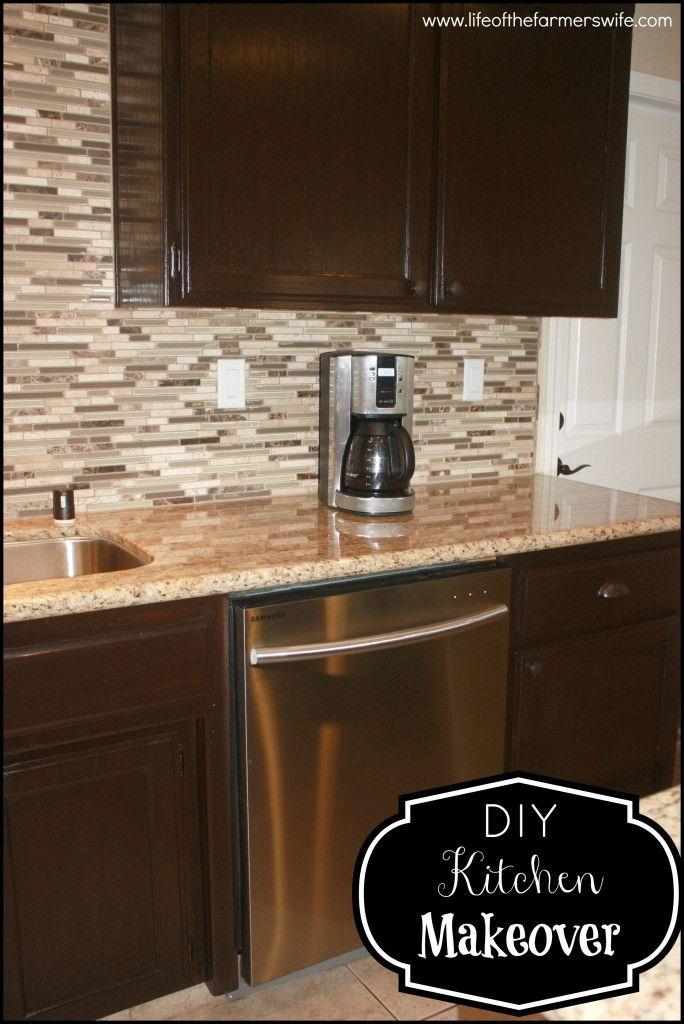 DIY Staining Kitchen Cabinets Dark Espresso