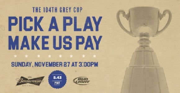 The Grey Cup Viewing Party – at all JRG Public Houses!