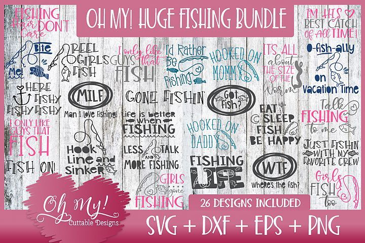 Oh My Huge Fishing Bundle Designs Svg Dxf Eps Png 250593 Svgs Design Bundles School Design Free Design Resources Fish