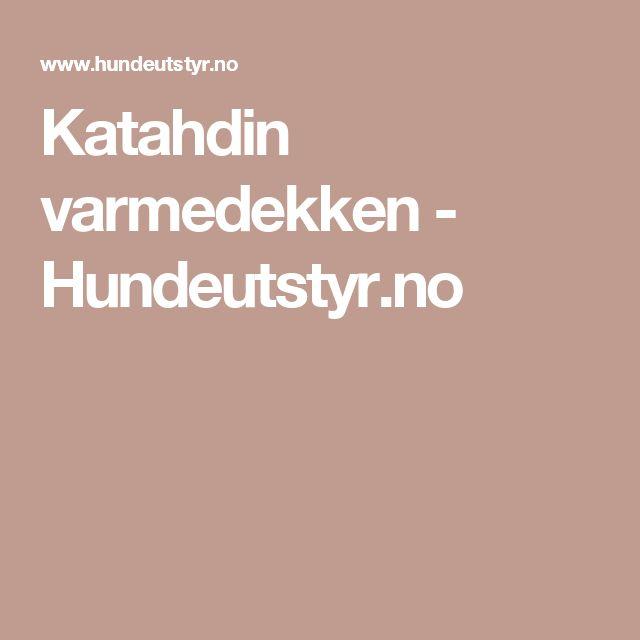 Katahdin varmedekken - Hundeutstyr.no