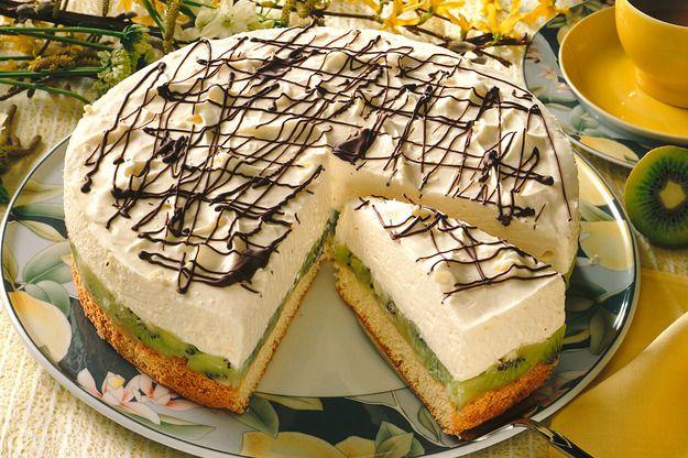 Tort kiwi z mascarpone