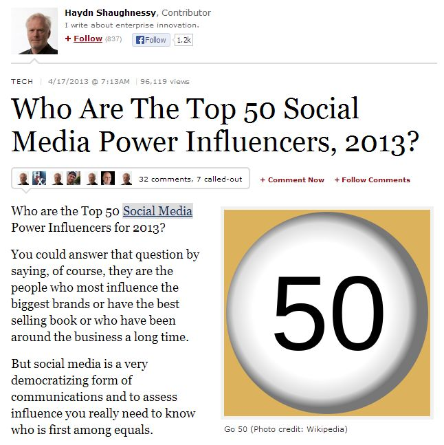 "Want to connect with some of the most influential users on ‪#‎Twitter‬ but don't know where to start?  We've made it easy for you, just visit our list of Forbes' ""Top 50 Social Media Power Influencers of 2013"" and they are just a click away!  Start following: https://twitter.com/SMMagic/forbes-top-50-influencers  ...and view the article: http://onforb.es/15B8amX"