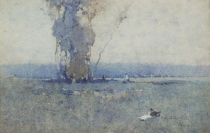 J.J. HILDER (1881-1916)  The Lake