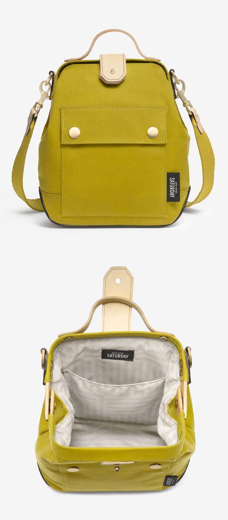 Moss crossbody bag. It's like a fancy backpack
