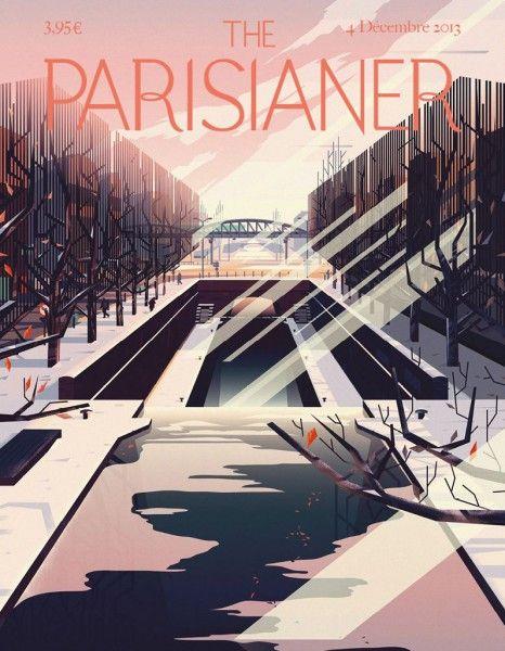 « The Parisianer » - © Marie-Laure Cruschi - 100 couvertures à la manière du « New Yorker »