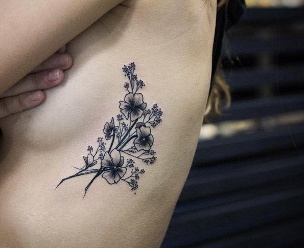 rib cage tattoos ideas