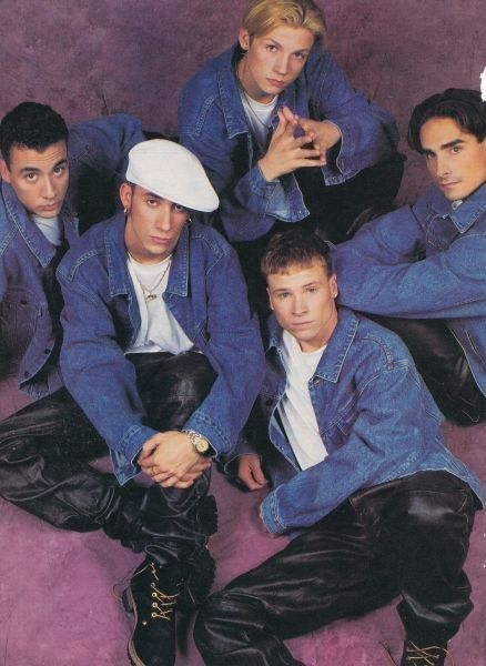 """No matter what people say, you can mix leather and denim for a """"tough guy look."""" 