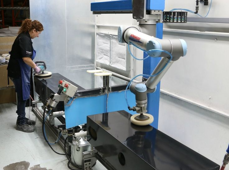 A collaborative robot from Universal Robots polishes Paradigm to 50% pro...
