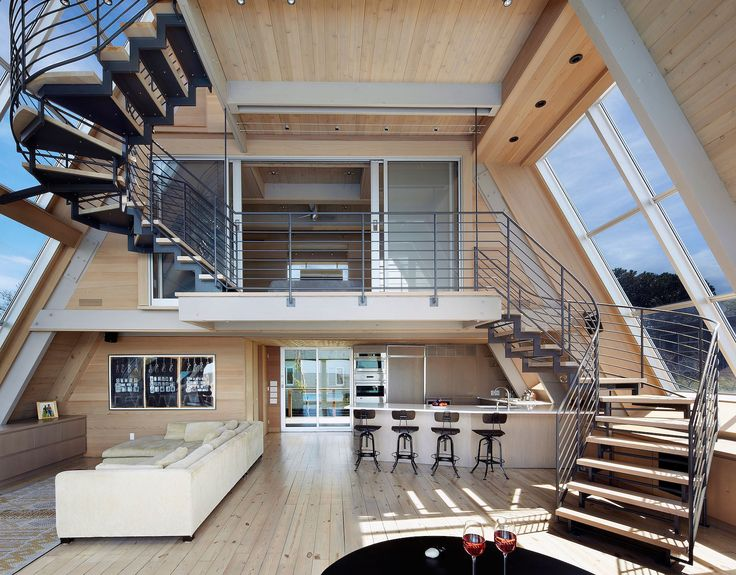 Open Space | Floor Plan | Living Room | A-Frame House | Residential Architecture | Home Ideas | Interior Design