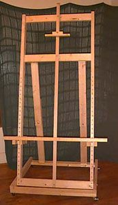 26 best easel images on pinterest easels music stand and artist diy build your own easel that will hold a 7 tall painting has solutioingenieria Gallery