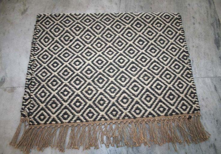 Handmade Jute Door Mat Kilim Floor Door Mat 2x3 Feet Same Mat Hand woven Mat  #Unbranded