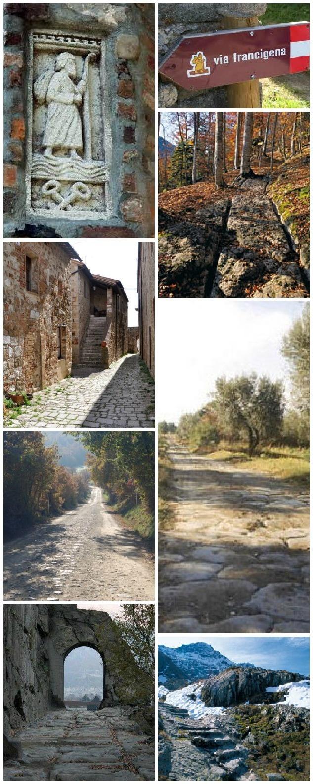 Via Francigena and the Sigeric's itinerary