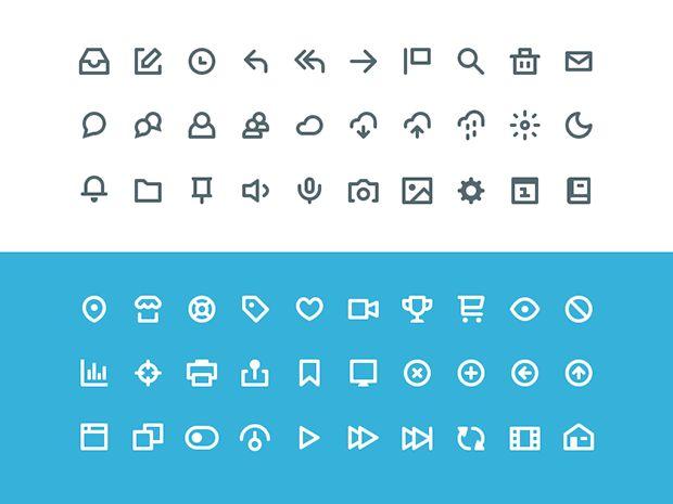 60 Flat Free Icon http://dlpsd.com/60-flat-free-icon/
