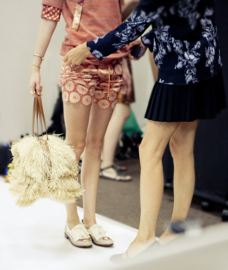 Backstage at Tory Burch