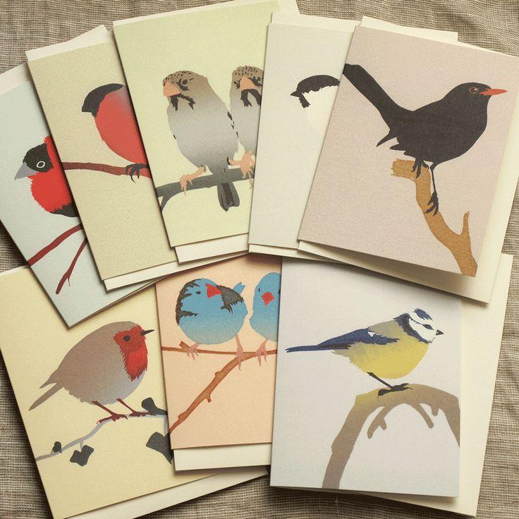 Set of 8 Bird Cards / Shop Jill