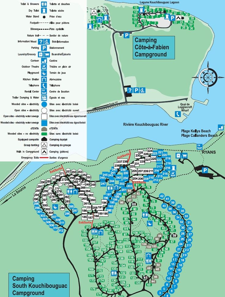 map of kouchibouguac national park u0026 39 s campgrounds