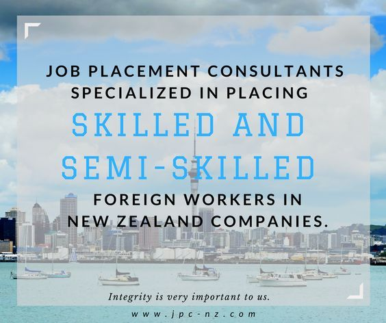 JPC has its own agents. Let us help you find the ideal job in New Zealand. www.jpc-nz.com