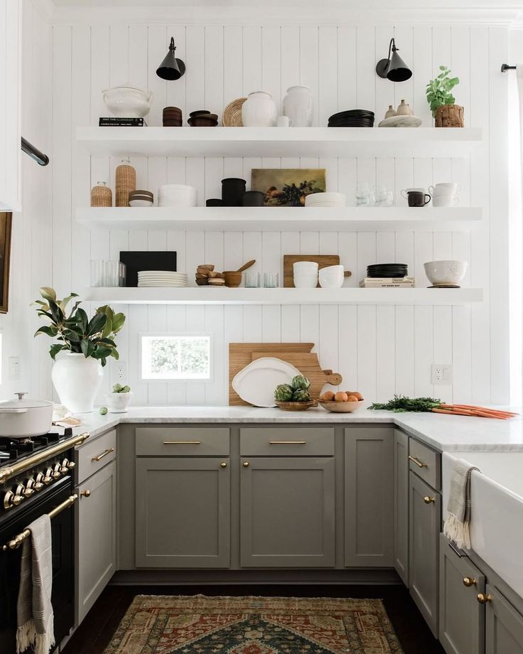 Greige Greige Paint Color Clare In 2020 English Country Kitchens Diy Kitchen Renovation Kitchen Diy Makeover