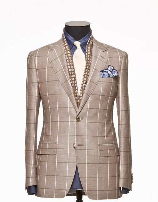 Tailored Jacket - Fabric 7425 Check Brown