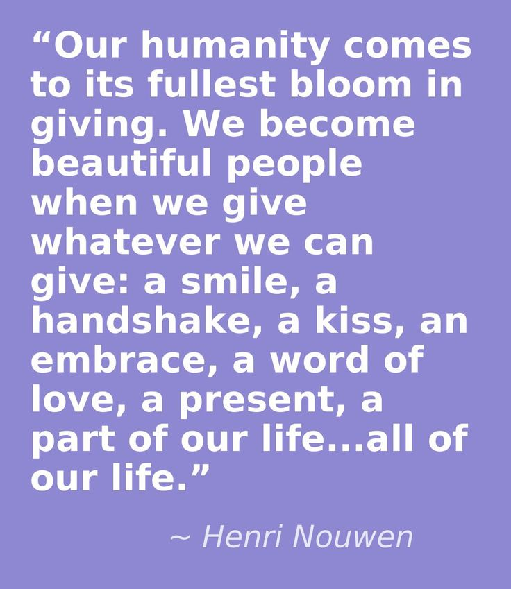 Henri Nouwen, a true man of God with words, worth listening to.
