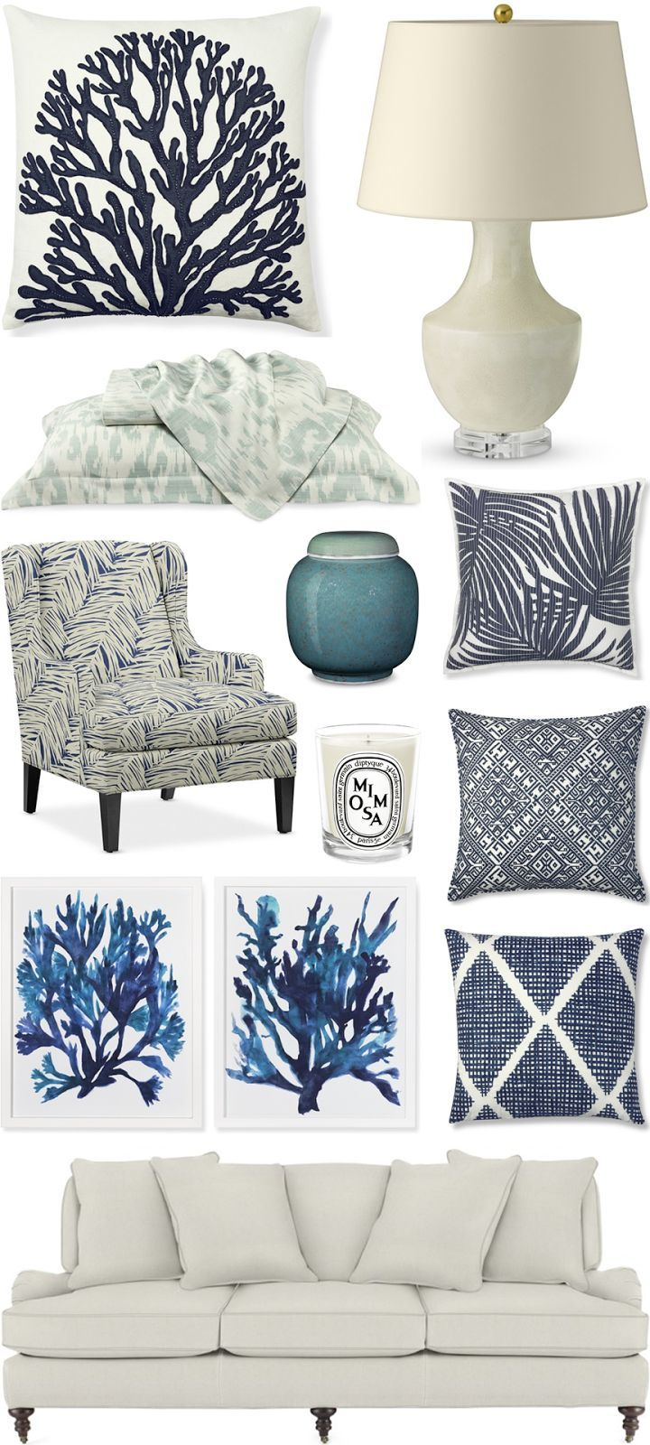 CHIC COASTAL LIVING: Beach Chic beach house home design @Williams-Sonoma Home