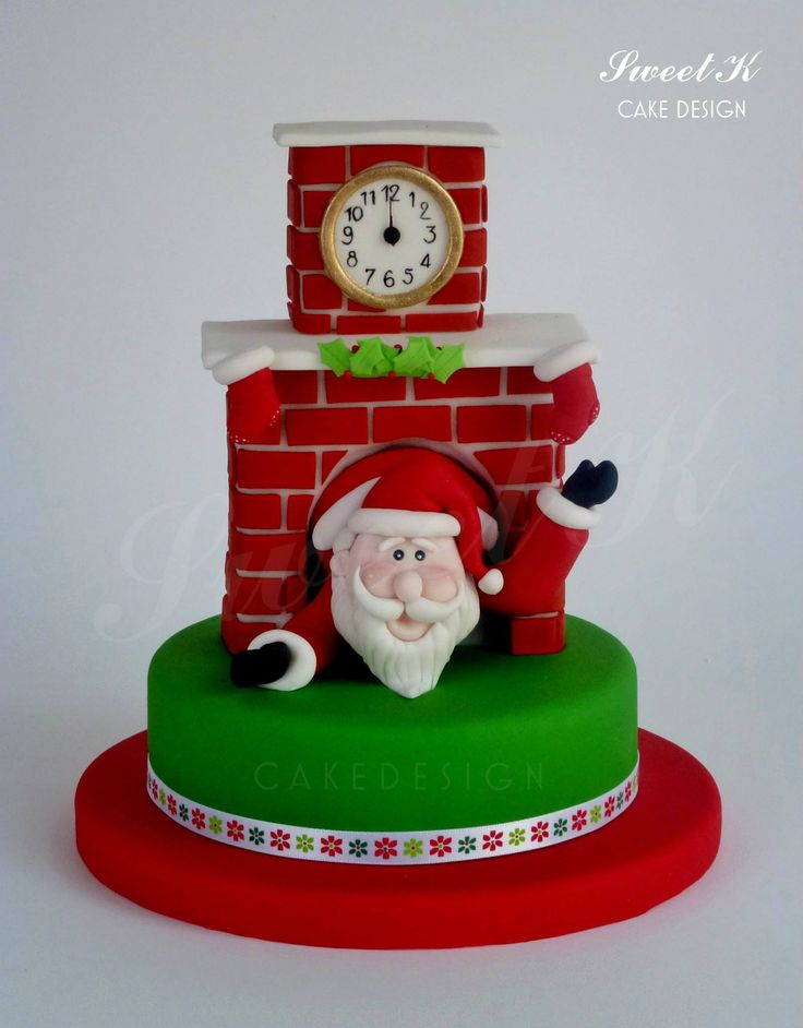 Christmas Cake Ideas Santa : 1000+ ideas about Santa Cake on Pinterest Christmas ...