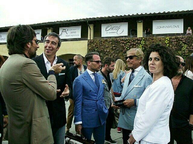 Pitti Uomo with Massim Pirrone, Andrea Luparelli and Lino Ieluzzi