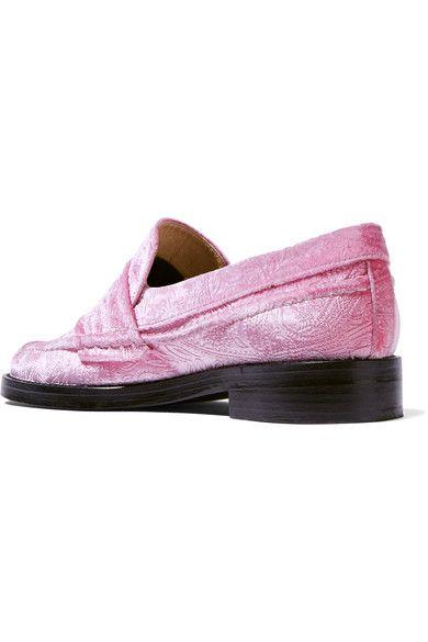 MR by Man Repeller - The Alternative To Bare Feet Embossed Velvet Loafers - Pink - IT35.5
