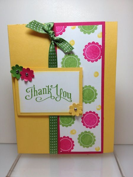 Round Array Thank You by Janeyrocket - Cards and Paper Crafts at Splitcoaststampers