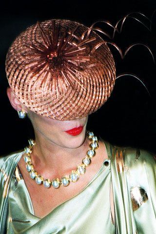 Copper Mother of the Bride Wedding Hat