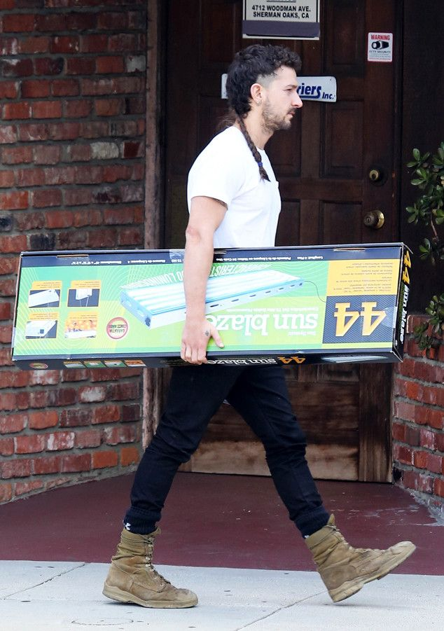 Shia LaBeouf Leaves a Hydroponic Shop, but It's Probably Not What You Think
