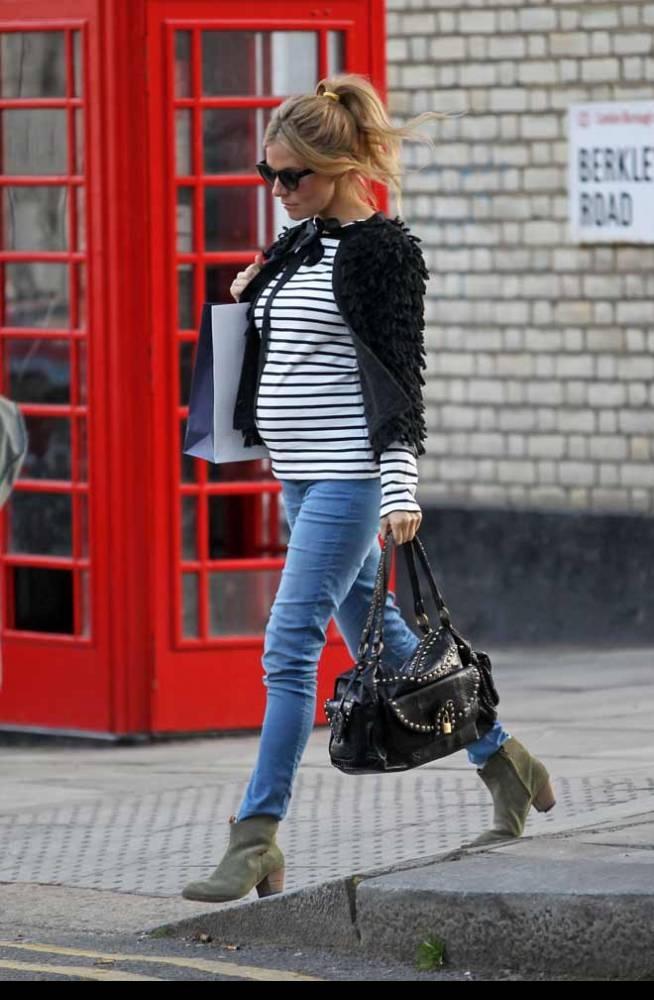 Embarazada y Streetstyler... copia a Sienna y rescata tus rebecas chic