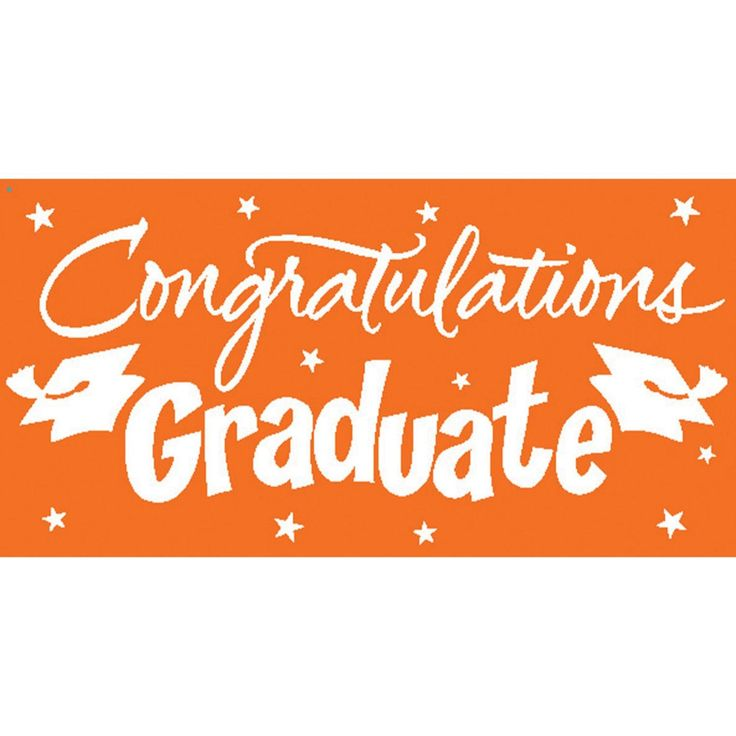 "Pack of 6 Sunkissed Orange and White Gigantic ""Congratulations Graduate"" Giant Party Banners 10'"