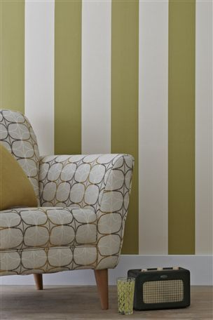 Green Textured Stripe Wallpaper