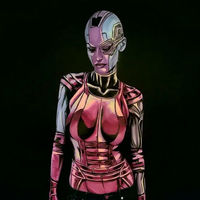Hey all, This is the Nebula Bodypaint from last night http://www.twitch.tv/kaypikefashion  I almost have the complete set, Nebula, Thanos, and Gamora so far!  I actually did a decent job of getting the bald cap on properly. I am pleased. Can't wait to have to photos ready for this one. Wish me luck on finding time to do edits!  Nebula was pretty fantastic to paint, still trying to figure out the blacks however! Overall its pretty good, I carried over my robotic techniques from DR Doom, and…