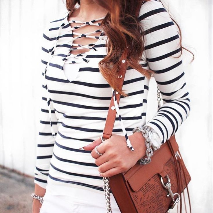 Laced up stripes...yes