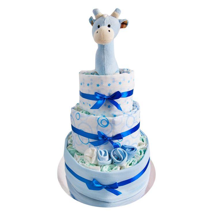 Baby Nappy Cake Boy - 3 Tier