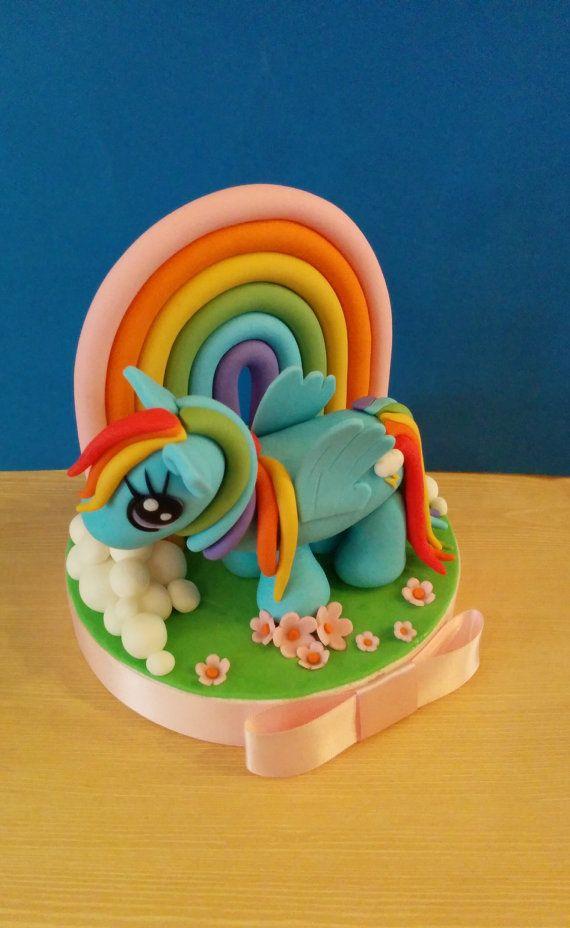 Jeu de gâteau fondant Rainbow Dash My little par XbakesbyXimena