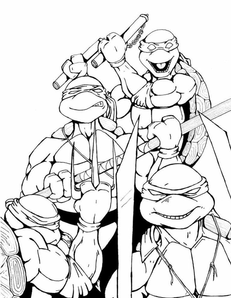 the four ninja samurai unleashed coloring page - Coloring Pages Teenagers Boys