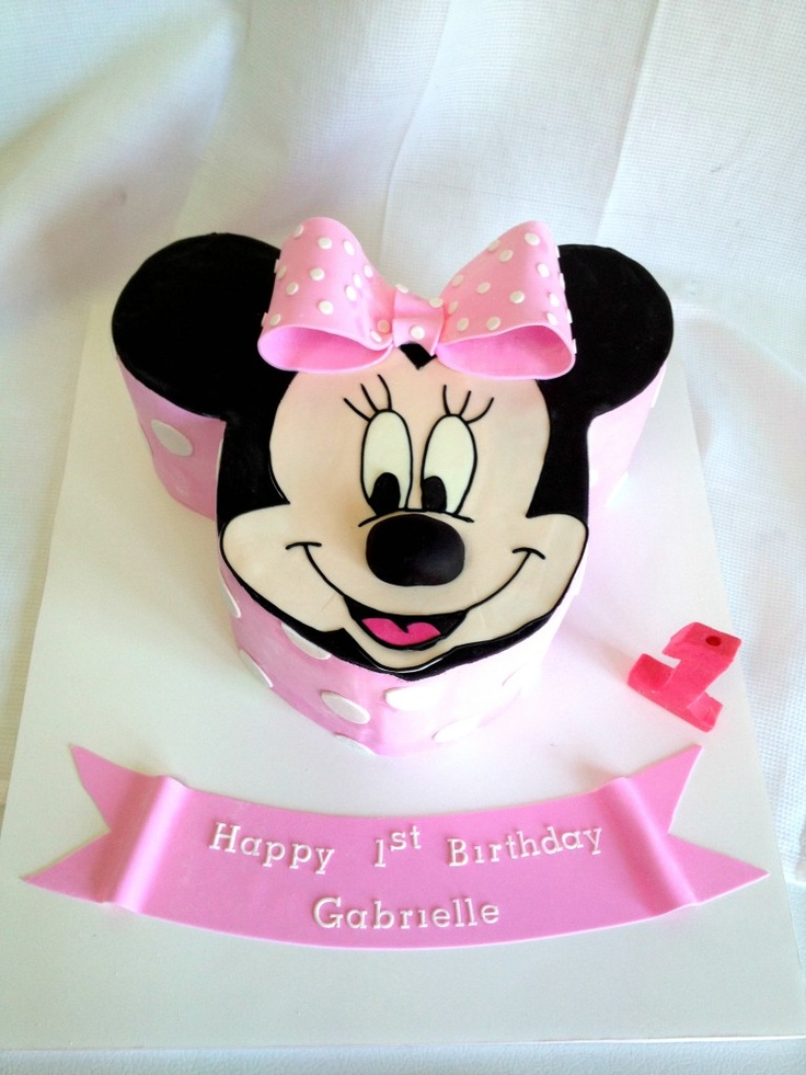 smash cake for cays 1st birthday :)  First Birthday Cake NJ NY - Minnie Mouse Cake  www.acakedream.com