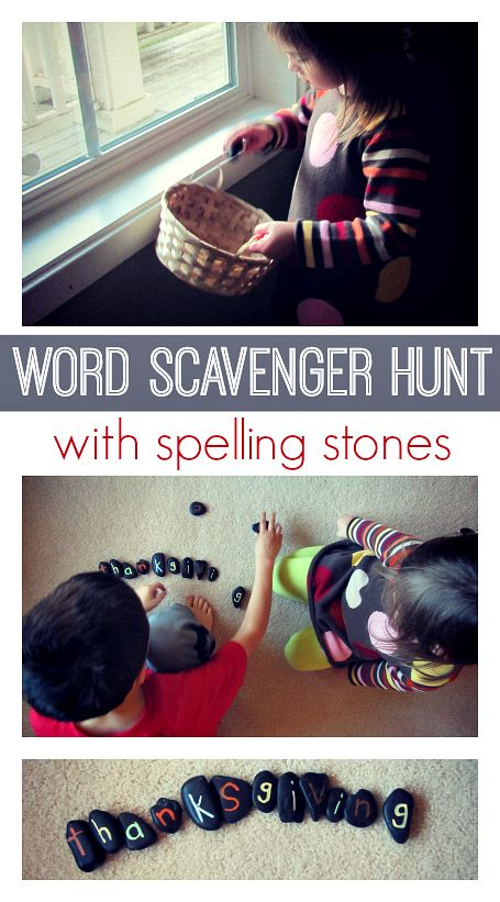 Word Scavenger Hunt with Spelling Stones - pinned by @PediaStaff – Please Visit ht.ly/63sNtfor all our pediatric therapy pins