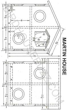 build an 8 family purple martin bird house with free plans