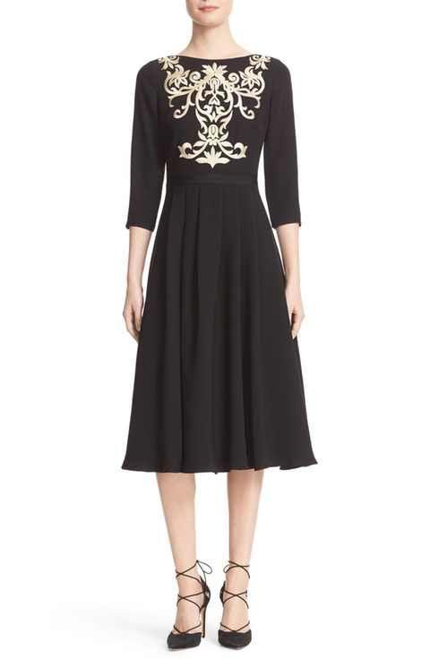 Ted Baker London Shamari Embroidered Midi Dress